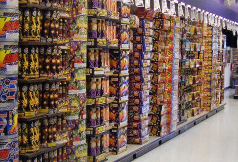 Pas op met vuurwerk in winkelpand zonder pui