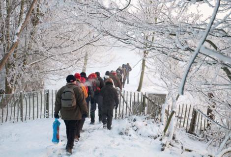 Winterwandeling vanaf 'Klavertje Vier'