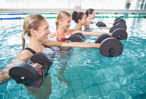 Nieuw bij openluchtzwembad de Tippe: Aquafit