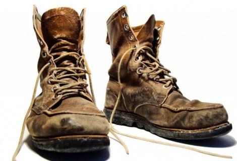 Oude schoenen voor Sallandse Wandelvierdaagse