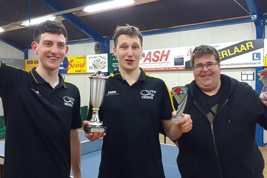 Paul Rouhof clubkampioen Tafeltennisvereniging Heino