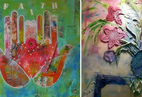 Workshop Mixed-media schilderen door Marike Plomp