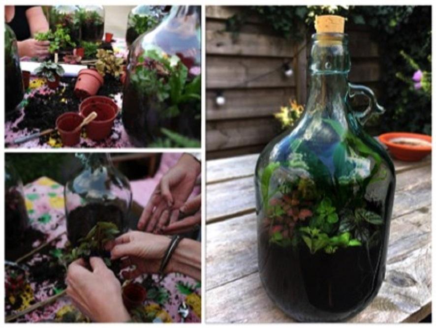Workshop flessentuin maken