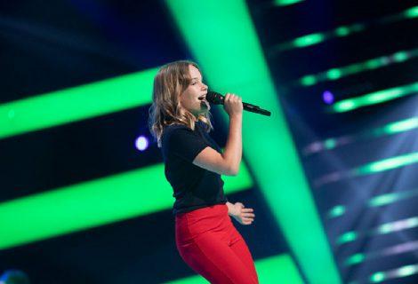 Sabien Koning vrijdagavond te zien in 'The Voice Kids'